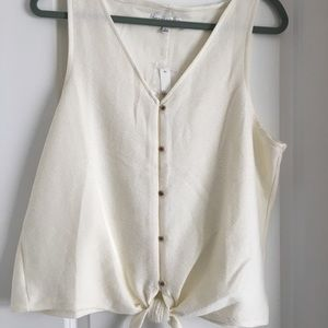 Madewell button-front tie tank top
